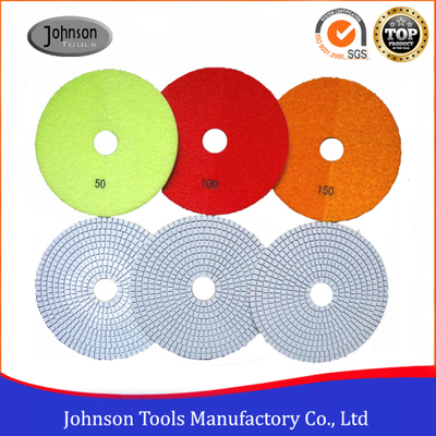 6 Inch White Wet Diamond Polishing Pad for Granite