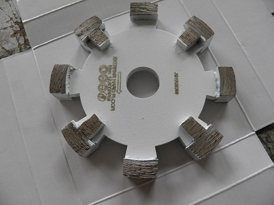 120mm tuck point blade with protect teeth for extreme hard concrete grinding