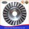 Diamond turbo cup wheel with aluminum steel disc