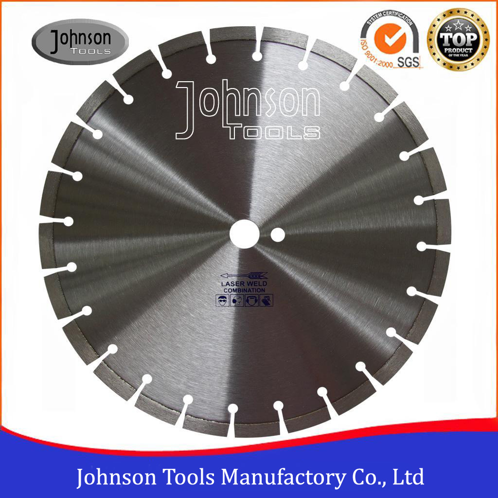 350-600mm Laser Welded Diamond Saw Blades for Floor Saws, Road Cutting