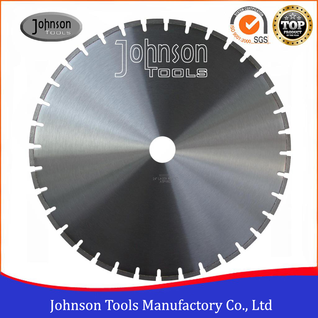 "24"" Laser Welded Asphalt Diamond Blade Working for Highway, Road Cutting"