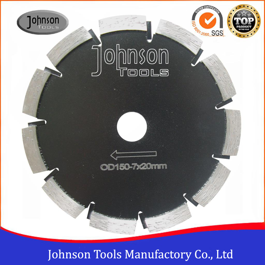 "6""-24"" Laser Welded Asphalt Cutting Wheel with Vertical Inserts Protection Segment"