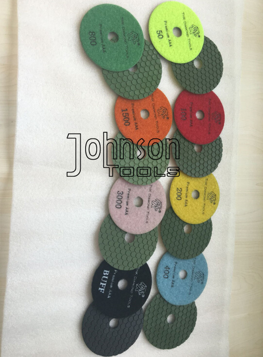 4 Inch Dry Diamond Polishing Pads