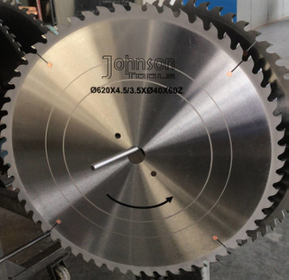 OD620mm Tct Saw Blade for Cutting Aluminum with Trapezoid Teeth