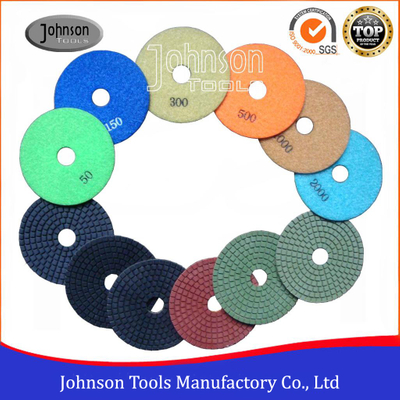 100mm Diamond Resin Polishing Pads